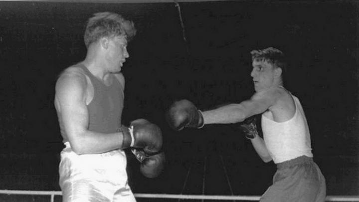 Геннадий Шатков (слева) на международных соревнованиях. 1954 г. Фото: из семейного архива